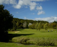 View over Builth Wells Golf Club