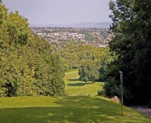 View over Dinas Powis Golf Club