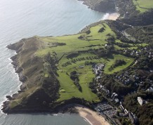 View over Langland Bay Golf Club