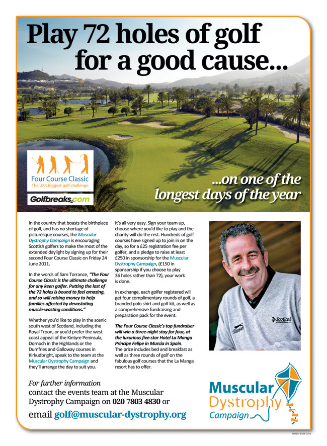 Play 72 holes of golf for a good cause...